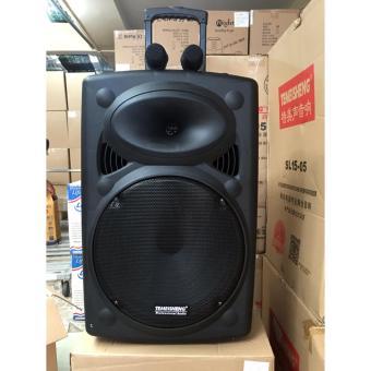 Loa vali kéo di động Bluetooth Karaoke TEMEISHENG LA-015 + 02 Micro không dây Kim Loại