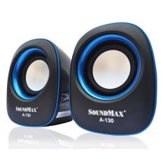 Loa vi tính Soundmax A130 / 2.0 (Đen viền xanh)