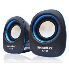 Loa vi tính Soundmax A130 / 2.0 (Đen viền xanh) – Loại tốt