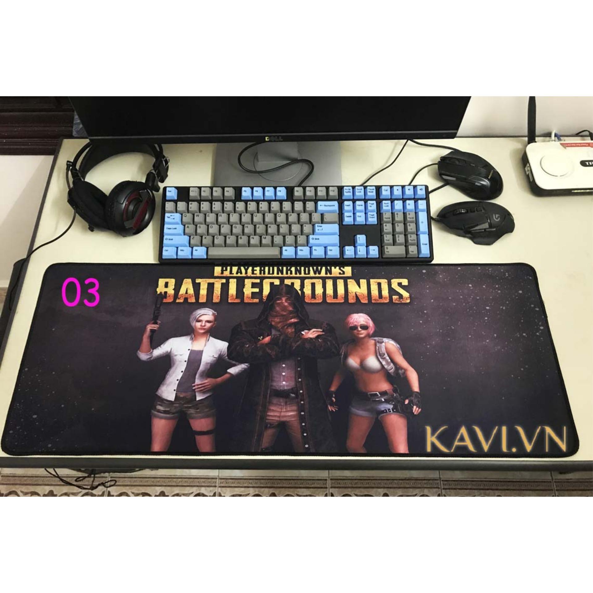 Đánh giá Lót máy tính, Lót chuột bàn phím Cỡ Lớn Giá rẻ, Hình Game (size 80x30cm) Tại Kav