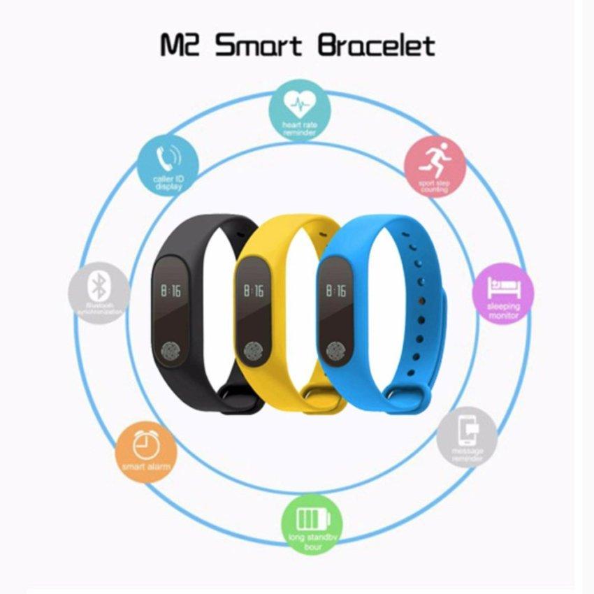 M2 Smart Wristband Bracelet Heart Rate Pulse Meter IP67 Waterproof Call Reminder Pedometer Fitness Sleep Tracker