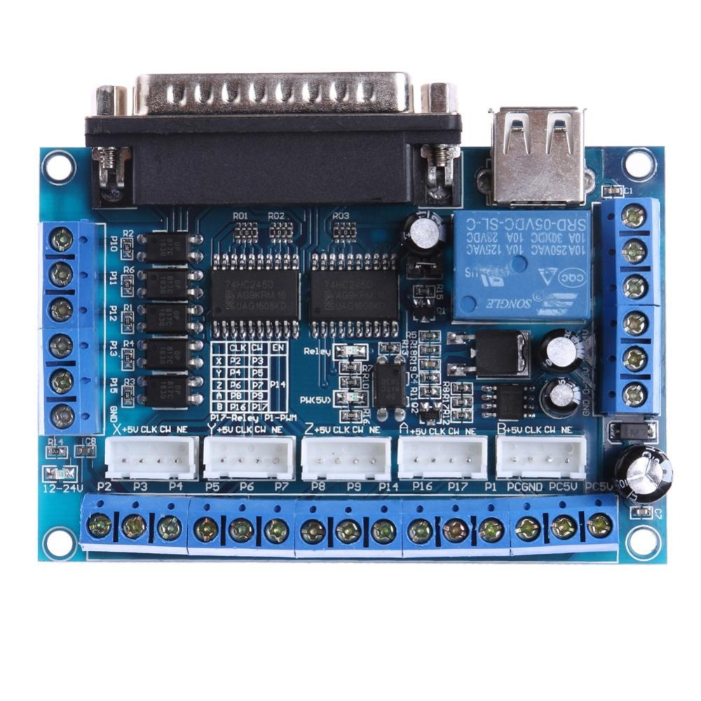 Giá Mach3 CNC Stepping Motor Driver Interface Adapter Breakout Board +USB Cable Tại anything4you