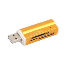 MagiDeal Đầu Đọc Thẻ SD USB 2.0 Hub Adapter Đọc 4 Thẻ Đồng Thời CF, CFI, TF SDXC, SDHC, SD MMC, Micro SDXC, MicroSD, Micro SDHC, MS cho Windows, mac, Linux thay thế chất liệu silicone dùng cho Đồng Hồ thông minh apple iwatch series 1 series 2