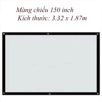 Màn chiếu 150 inch Kích thước: 3.32 x 1.87mcao cấp cho quán cafe