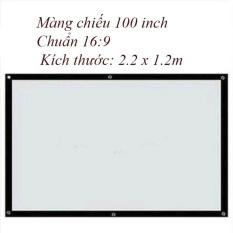 Màn chiếu treo tường, dán tường 100 inch – Kích thước: 2.2m x 1.25m