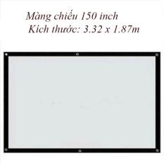 Màn chiếu treo tường, dán tường 150 inch – Kích thước: 3.32 x 1.87m