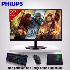 Màn hình vi tính LCD 22inch Philips IPS Không Viền Cao Cấp 226V6 đẳng cấp LCD + Quà Tặng