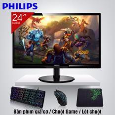 Màn hình vi tính LCD 24inch Philips IPS Cao Cấp 246V5LSB đẳng cấp game thủ + Quà Tặng