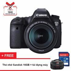 Máy ảnh Canon EOS 6D kit 24-105mm F3.5-5.6 STM (Hãng phân phối chính thức) – Tặng thẻ nhớ 16GB + túi đựng máy + khóa học nhiếp ảnh