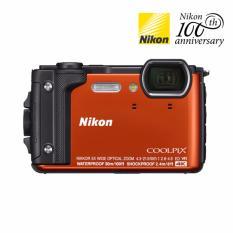 Máy ảnh du lịch chống nước Nikon W300 (Cam) 16MP, Zoom quang 5X – Tặng thẻ nhớ SD 16GB + túi đựng máy