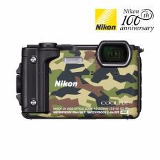 Máy ảnh du lịch chống nước Nikon W300 (Màu lính) 16MP, Zoom quang 5X – Tặng thẻ nhớ SD 16GB + túi đựng máy