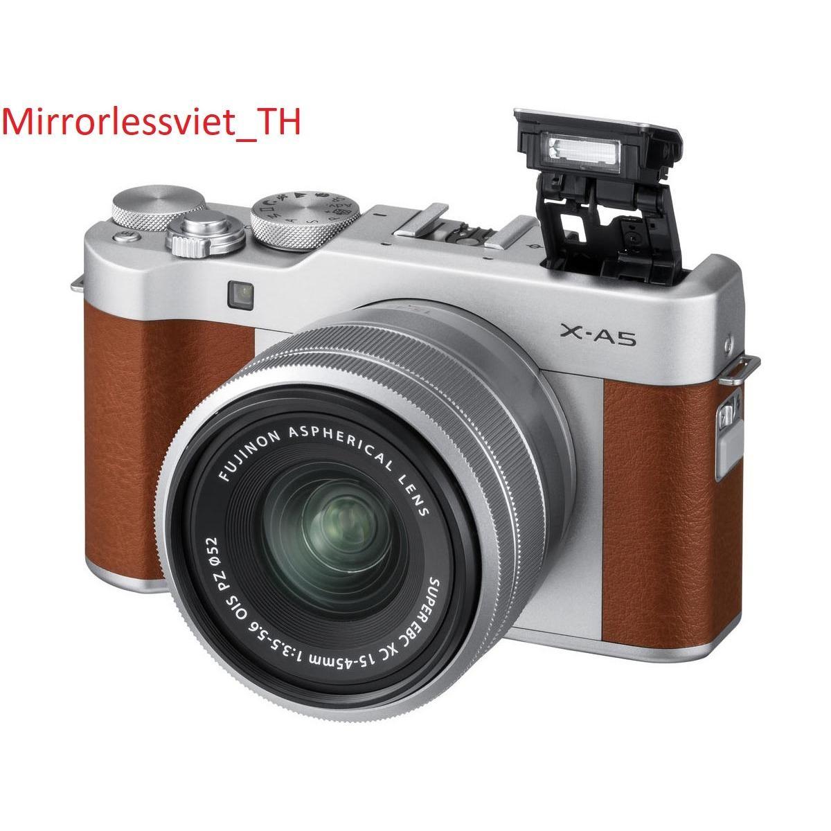 Máy ảnh Fuji XA-5 ( Bạc – Nâu ) kèm Lens 15-45