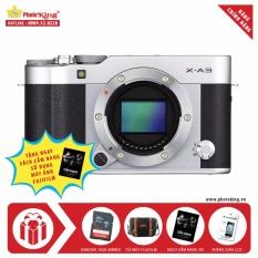 Giá Khuyến Mại Máy ảnh Fujifilm X-A3 Body 24.2MP (Bạc) + Tặng kèm Thẻ nhớ 16GB 48MB/s + Túi máy ảnh Fujifilm + Miếng dán LCD + Sách cẩm nang hướng dẫn sử dụng – Hãng phân phối chính thức