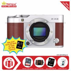 Máy ảnh Fujifilm X-A3 Body 24.2MP (Nâu) + Tặng kèm Thẻ nhớ 16GB 48MB/s + Túi máy ảnh Fujifilm + Miếng dán LCD + Sách cẩm nang hướng dẫn sử dụng – Hãng phân phối chính thức