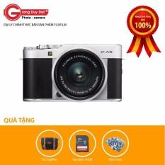 Máy ảnh Fujifilm X-A5 + XC 15-45mm F/3.5-5.6 OIS PZ (Bạc) – Tặng Thẻ 16GB + Túi FUJIFILM + Tấm Dán màn hình – Hãng phân phối chính thức