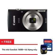 Máy ảnh KTS Canon IXUS 185 (Đen) (Hãng phân phối chính thức) – Tặng thẻ nhớ SD 16GB, túi đựng máy
