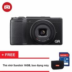 Máy ảnh KTS Ricoh GR II 16.2MP (Đen) – Tặng thẻ nhớ 16GB + bao đựng máy