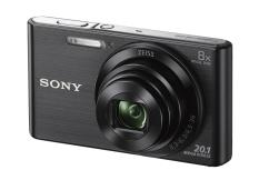 Máy ảnh KTS Sony Cyber-Shot DSC-W830 20.1MP và Zoom quang 8x (Đen)