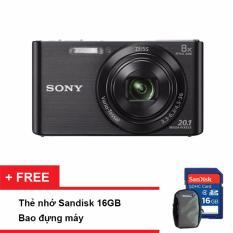 Máy ảnh KTS Sony Cyber shot DSC W830 20.1MP và Zoom quang 8x (Đen)(Tặng thẻ nhớ SD 16GB, bao đựng máy)