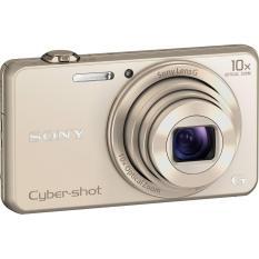 Máy Ảnh Kts Sony Cybershot Dsc-Wx220 18.2Mp, Zoom Quang 10X (Gold) (Tặng thẻ nhớ SD 16GB, bao đựng máy)
