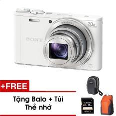 Máy ảnh KTS Sony Wx350 18.2MP và zoom quang 20x (Trắng) – Tặng thẻ nhớ – Túi – Balo du lịch Sony – Hàng phân phối chính hãng