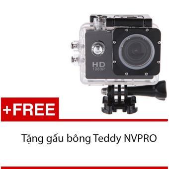 Máy ảnh Mini chống nước chuẩn FULL HD (Đen) + Tặng 1 gấu bông siêukute NVPRO