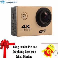 Cách mua Máy ảnh Mini thời trang chuẩn 4K, Chống nước , kết nối wifi, xem live trên điện thoại (Đồng) + Tặng Tặng pin sạc dự phòng để đi du lịch + Tặng thêm móc khoá treo máy ảnh MINION