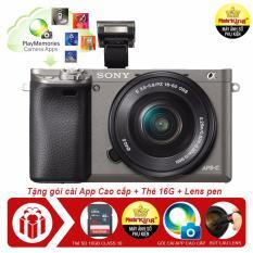 Máy ảnh Sony A6000 LCE-6000L + Tặng thẻ 16GB + Bút lau lens + 01 Gói cài apps cao cấp – Hàng nhập khẩu