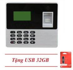 (Khuyến Mãi)_ Máy Chấm Công Quét Vân Tay Ronald Jack X638 (Đen Xám) + USB 32GB