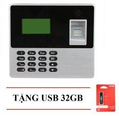 Máy chấm công quét vân tay Ronald Jack X638 (đen xám) + USB 32GB