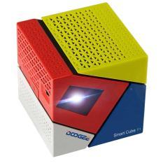 Máy chiếu Mini projector Android TV Smart Box Smart Cube P1 Quad core 4 nhân bluetooth (Xanh đỏ trắng)