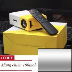 Máy chiếu mini thiết kế nhỏ gọn YG-300 Full HD + Tặng 1 màng chiếu 100 inch