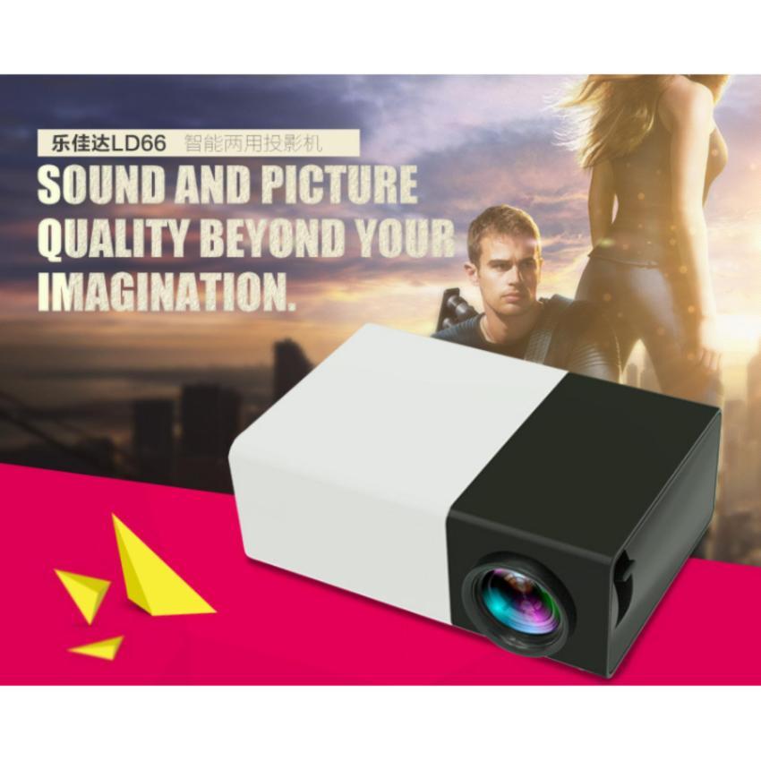 Máy chiếu mini thiết kế nhỏ gọn YG-300 Full HD (trắng đen)