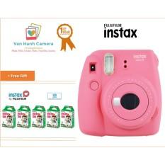 Máy Chụp Ảnh Lấy Ngay Fujifilm Instax Mini 9 Hồng và Bộ 5 hộp film Instax mini 10/px – Phân phối chính hảng Fujifilm