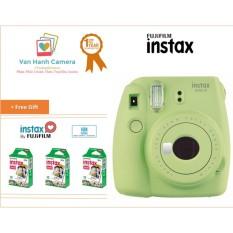 Máy Chụp Ảnh Lấy Ngay Fujifilm Instax Mini 9 Lime Green tặng 3 hộp film Instax mini 10/px – Phân phối chính hảng Fujifilm