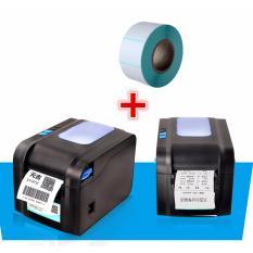 Máy in bill k80+in mã vạch Xprinter 370B tặng kèm 5 cuộn giấy k80x50,1cuộn in tem 20x30x500 tem
