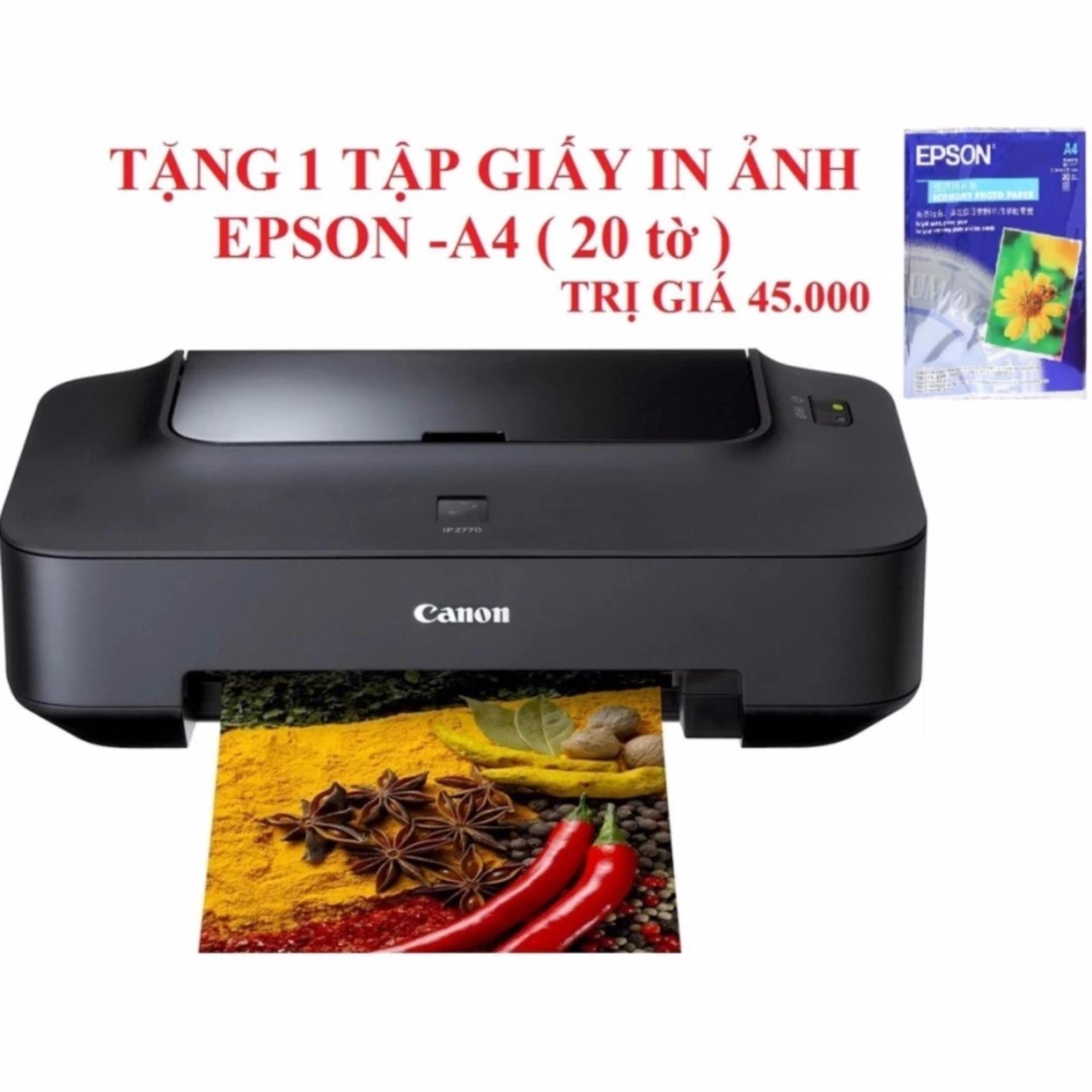 Máy in phun Canon Pixma Ip2770 (Đen) +Tăng 1 tập giấy in Ảnh