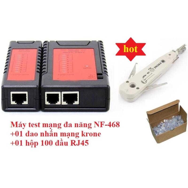 Bảng giá Máy kiểm tra cáp mạng đa năng Noyafa NF-468+Tặng Dao nhấn mạng krone và Hộp 100 đầu mạng RJ45 Phong Vũ