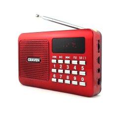 Máy nghe nhạc bằng thẻ nhớ USB FM đa năng Craven CR-16 (Đỏ)