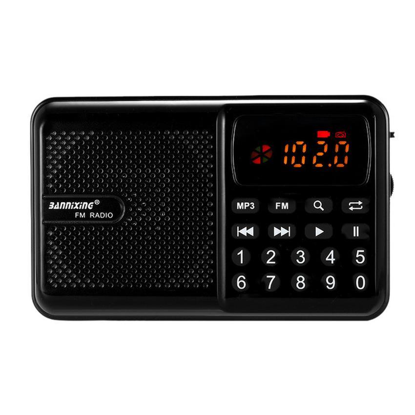Chỗ bán Máy nghe nhạc đa năng USB, thẻ nhớ, đài FM Bannixing D-69E (ĐEN)