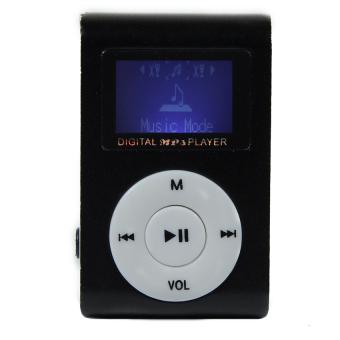 Máy nghe nhạc MP3 có màn hình LCD kiểu kẹp (Đen)