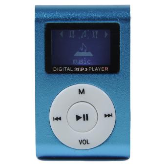 Máy nghe nhạc MP3 có màn hình LCD kiểu kẹp (Xanh dương)