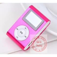 (Xem Video)Máy nghe nhạc MP3 vỏ nhôm,có màn hình LCD kiểu kẹp(màu đỏ) + cáp sạc + tai nghe