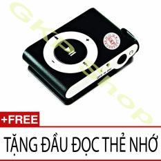 Máy nghe nhạc MP3 dùng thẻ nhớ (Đen) Tặng đầu đọc thẻ