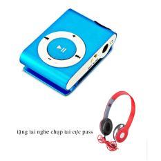 Máy nghe nhạc MP3 GMTP (Xanh dương) + Tặng tai nghe chụp tai cực pass