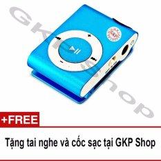 Máy nghe nhạc MP3 hỗ trợ thẻ nhớ – Xanh dương, Tặng tai nghe và cốc sạc