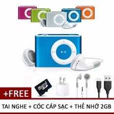 Máy nghe nhạc MP3 ipod mini (giao ngẫu nhiên) + Cóc cáp sạc + Tai nghe + Tặng thẻ nhớ 2Gb