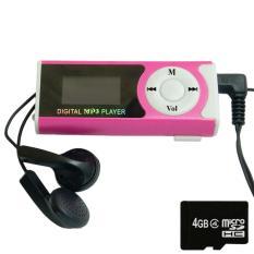 Máy nghe nhạc MP3 LCD dài (Hồng) và thẻ nhớ MicroSD 4GB GKP Shop