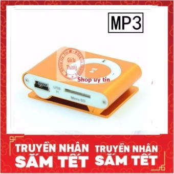 Máy nghe nhạc MP3 ( màu tùy ý) kẹp áo vỏ nhôm+ cáp sạc
