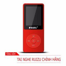 Máy nghe nhạc mp3 RUIZU X02 (8Gb – Đỏ) [Hãng phân phối chính thức]